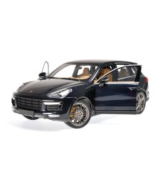 PORSCHE CAYENNE TURBO S - 2014 - BLUE METALLIC
