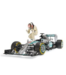 MERCEDES AMG PETRONAS F1 TEAM W06 HYBRID - LEWIS HAMILTON - WINNER USA GP 2015 - SET WITH FIGURINE