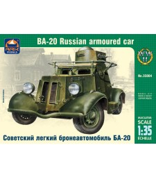 1:35 Руски лек брониран автомобил БА-20 (BA-20 Russian light armored car)