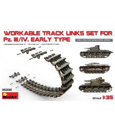1:35 Вериги за танкове Pz.Kpfw III-IV, ранна версия (Pz.Kpfw III-IVWorkable Track Links Set, Early)