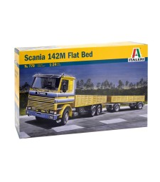 1:24 Камион влекач СКАНИЯ 142М с ремарке (SCANIA 142M FLATBED Truck and Trailer)