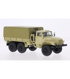 URAL-4320 Flatbed Truck with Tent - Beige