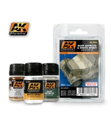 AK-060 DUST EFFECTS AND WHITE SPIRIT - Ерозиращ комплект (3 x 35 ml)