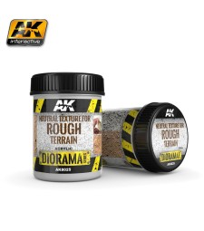 AK-8025 NEUTRAL TEXTURE FOR ROUGH TERRAINS - (250 ml, Base product, Acrylic) - Текстуриращ продукт