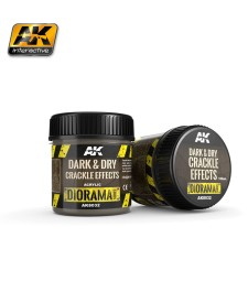 AK-8032 Dark & Dry Crackle Effects 100ml
