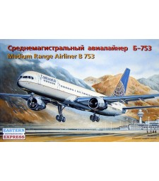1:144 Пътнически самолет Боинг 757-300 (Boeing 757-300 American medium-haul airliner, Continental Airlines)