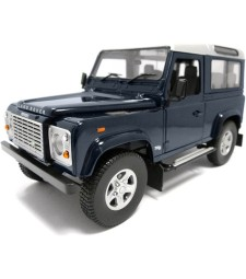 Land Rover Defender 90 TD5 Wagon - baltic blue with silver roof