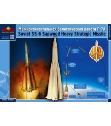 "1:144 Междуконтинентална балистична ракета П-7 "" Седморка"" (SS-6 ""Sapwood"" Russian Intercontinental Ballistic Missile)"