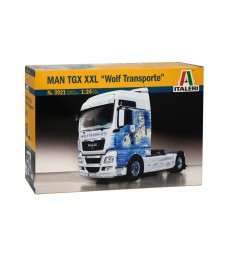 "1:24 Камион влекач МАН ТГХ XXL (MAN TGX XXL ""WOLF TRANSPORT"")"