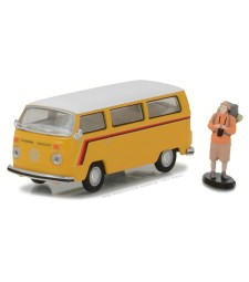 1975 Volkswagen Type 2 Bus with Backpacker Solid Pack - The Hobby Shop Series 1