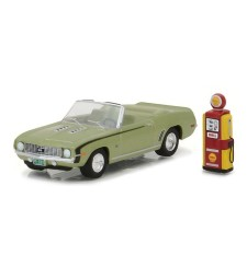 1969 Chevy Camaro Convertible with Vintage Gas Pump Solid Pack - The Hobby Shop Series 1