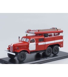 Fire truck PMZ-27 (ZIL-157K) white stripes