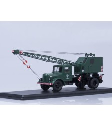 Truck crane K-51 (MAZ-200) with function - green