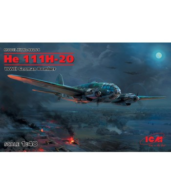 1:48 Германски бомбардировач Хе 111H-20 (He 111H-20, WWII German Bomber)