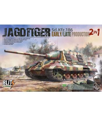1:35 Гермнски танк Sd.Kfz.186 Jagdtiger, ранно/късно производство, 2 в 1 (Sd.Kfz.186 Jagdtiger early/late production 2 in 1)