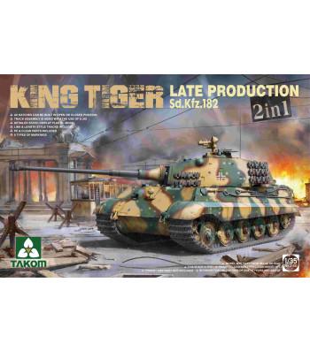 1:35 Германски танк Sd.Kfz.182 King Tiger, късно производство, 2 в 1, без интериор (WWII German Heavy Tank Sd.Kfz.182 King Tiger  Late Production 2 in 1 (without interior))