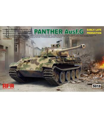 1:35 Германски танк PANTHER AUSF.G ранно/късно производство с работещи вериги