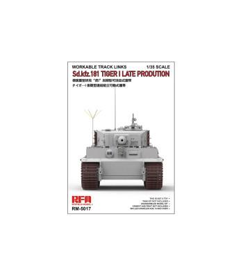 1:35 Работещи вериги за танк TIGER I, късно производство