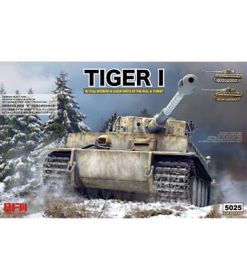 1:35 Германски танк TIGER ранно производство с пълен интериор, прозрачни части и работещи вериги