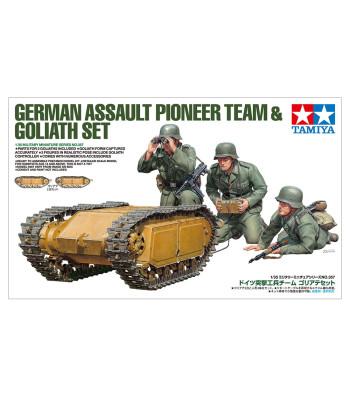 1:35 Германски щурмови инженери и самоходна гъсенична мина Голиат (German Assault Pioneer Team & Goliath Set) - 3 фигури