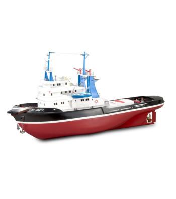 """1:50 Влекач АТЛАНТИК с корпус от ABS (103 cm) - Подходящ за RC (серия """"Построй и навигирай"""") - Модел на кораб от дърво"""