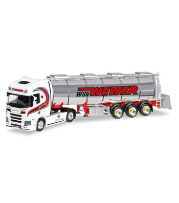 "Scania CR HD chrome tank semitrailer ""Willi Wewer"""