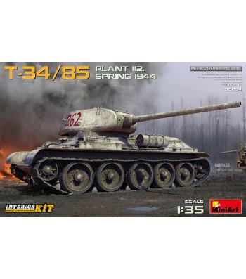 1:35 Танк T-34-85 Завод 112. пролетта на 1944, с интериор