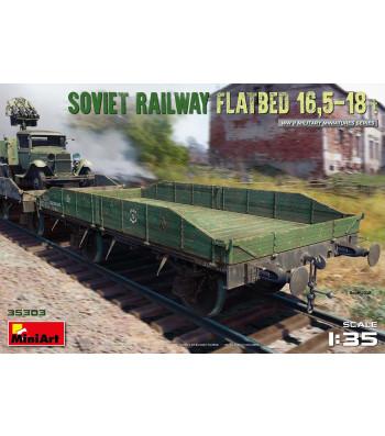 1:35 Съветска железопътна платформа 16,5-18 тона