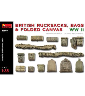 1:35 Британски боеприпаси - раници, чанти и сгънато платно, Втора световна война (ritish Rucksacks, Bags & Folded Canvas WW2)