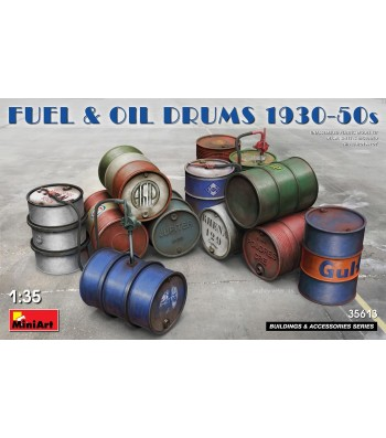 1:35 Fuel & Oil Drums 1930-50s