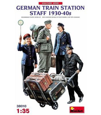 1:35 German Train Station Staff 1930-40s - 4 фигури