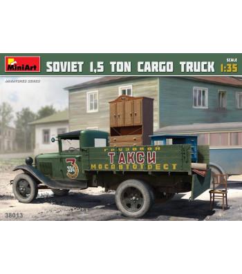 """1:35 Съветски товарен камион АА тип """"Полуторка"""" 1,5 тона, с товар (Soviet 1,5 ton Truck AA Type """"Polutorka"""")"""