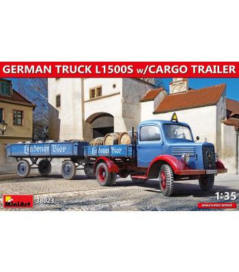 1:35 Германски камион L1500S с товарно ремарке