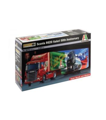 1:24 Камион влекач с ремарке Скания Р620 Италери 50-та годишнина (Scania R620, Italeri 50th Anniversary, Truck+trailer)