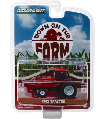 1982 Tractor - Red and Black with Dual Rear Wheels Solid Pack- Down on the Farm Series 2