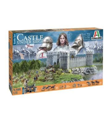 1:72 Диорама: Замък от Стогодишната война (100 YEARS WAR CASTLE) - комплект с фигури и сгради