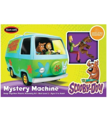 "1:25 Ван ""Мистериозната машина"" на Скуби-ду и Шаги (Scooby Doo & Shaggy Mystery Machine), модел с фигури"