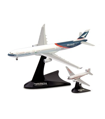 Cathay Pacific Airways Set Douglas DC-3/ Airbus A330-300 Niki + Progress Hong Kong Aircraft Model Kit, Multi-Colour