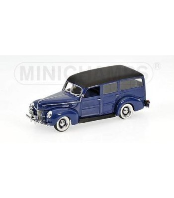 FORD DELUXE WOODY STATION WAGON 1940 BLUE L.E. 744 PCS.