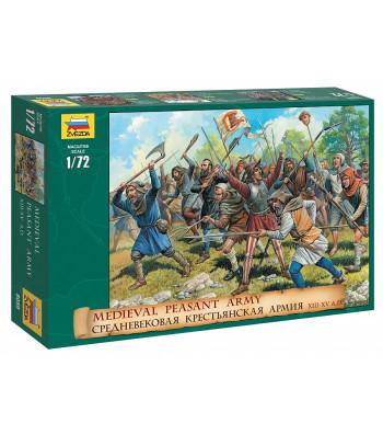 1:72 Средновековна армия от селяни - 42 фигури