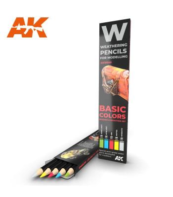 AK10045 WATERCOLOR PENCIL SET BASICS - Комплект състаряващи моливи (5 броя)