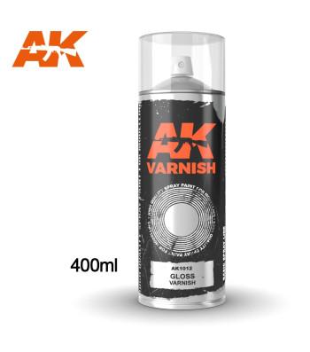 AK1012 Gloss Varnish - Спрей, гланцов лак 400 ml (включва 2 дюзи)