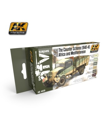 AK-4030 THE CAUNTER SCHEME (1940-41) SET - Acrilyc Paint Sets