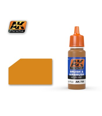 AK706 LIGHT RUST - Акрилна боя от синя серия (17 ml)