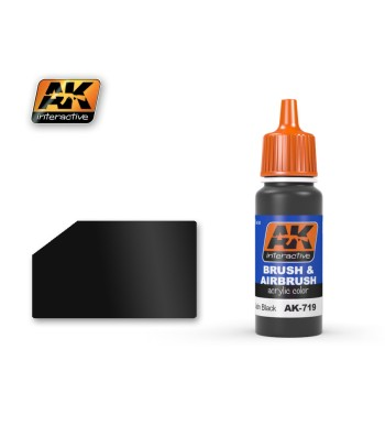 AK-719 Satin Black - Acrilyc Paints