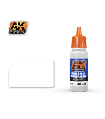 AK-738 White Acrylic Color - Acrilyc Paints