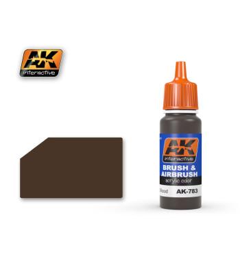 AK783 WEATHERED WOOD - Акрилна боя от синя серия (17 ml)