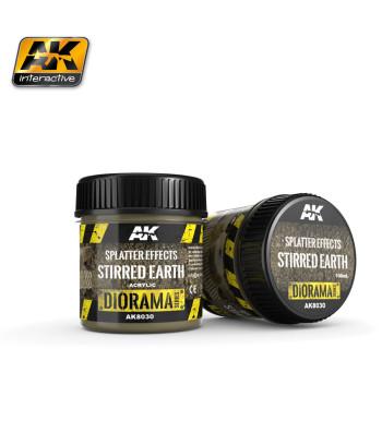 AK8030 Ефект: Пръски кал (SPLATTER EFFECTS STIRRED EARTH) - (100 ml, акрил) - Текстуриращ продукт