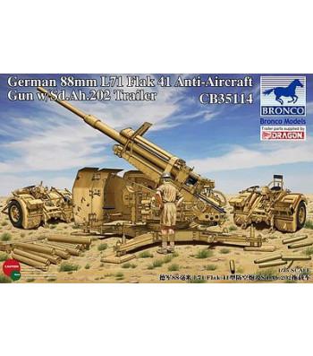 1:35 Германско зенитно оръдие 8.8cm L71 Flak41with Sd.Ah.202 Tr