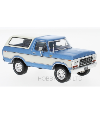 Ford Bronco, metallic-blau/white, 1978